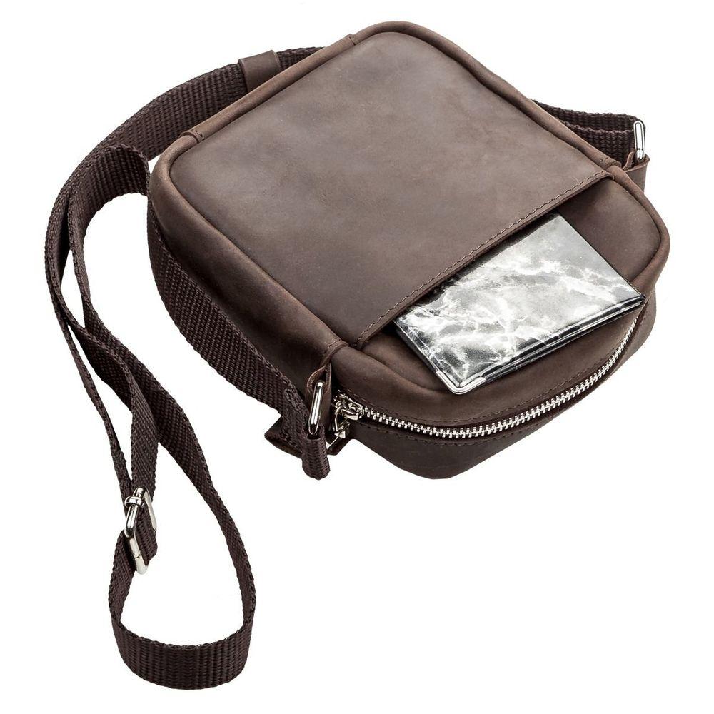 Сумка SHVIGEL 11077 из винтажной кожи Коричневая - Shvigel — бренд ... e1e5a0362339d