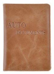 Leather Driver's License Holder - Light Brown - Shvigel 16071