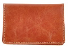 Leather Driver's License Holder - Brown - Shvigel 16076