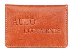 Driver's License Holder - Made of Genuine Leather - Brown - Shvigel 16137