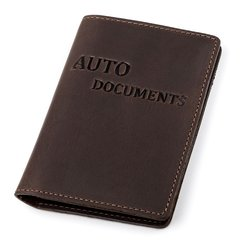 Driver's License Holder - Credit Card Holder - Business Card Holder - Genuine Leather - Brown - Shvigel 13922
