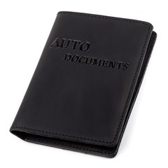 Driver's License Holder - Credit Card Holder - Business Card Holder - Genuine Leather - Black - Shvigel 13923